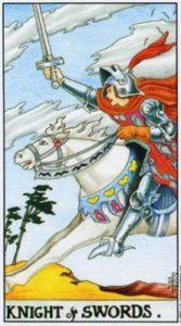 Всадник (Рыцарь) Мечей Универсальное Таро Райдера Уайта