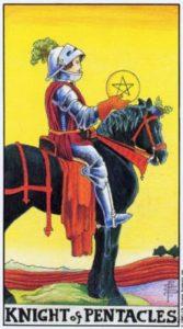 Всадник (Рыцарь) Пентаклей Универсальное Таро Райдера Уайта