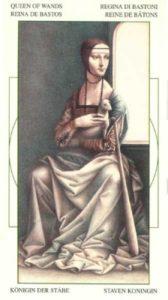 Королева Жезлов (Булавы)Таро Леонардо Leonardo da Vinci Tarot