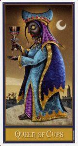 Королева Кубков Таро Девиантной Безумной Луны Deviant Moon Tarot