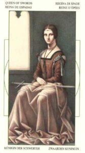 Королева Мечей Таро Леонардо Leonardo da Vinci Tarot