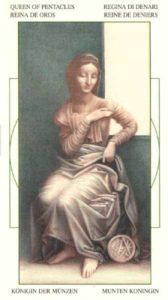 Королева Монет Таро Леонардо Leonardo da Vinci Tarot