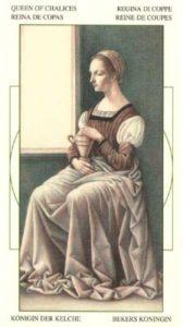 Королева Чаш (Кубков) Таро Леонардо Leonardo da Vinci Tarot