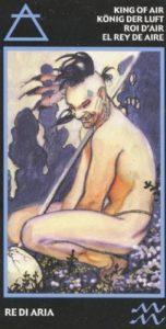 Король Воздуха (Мечей) Эротическое Таро Манара