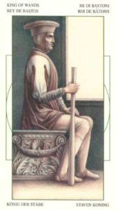 Король Жезлов (Булавы)Таро Леонардо Leonardo da Vinci Tarot
