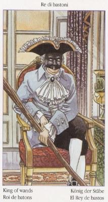 Король Жезлов Таро Казановы Tarots of Casanova
