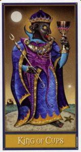 Король Кубков Таро Девиантной Безумной Луны Deviant Moon Tarot