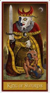 Король Мечей Таро Девиантной Безумной Луны Deviant Moon Tarot