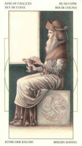 Король Чаш (Кубков) Таро Леонардо Leonardo da Vinci Tarot