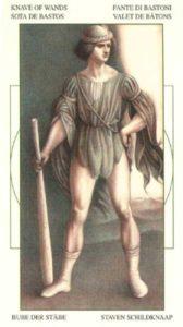 Паж Жезлов (Булавы)Таро Леонардо Leonardo da Vinci Tarot