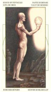 Паж Монет Таро Леонардо Leonardo da Vinci Tarot
