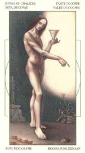 Паж Чаш (Кубков) Таро Леонардо Leonardo da Vinci Tarot
