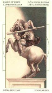 Рыцарь Жезлов (Булавы)Таро Леонардо Leonardo da Vinci Tarot