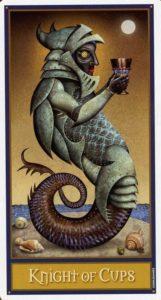 Рыцарь Кубков Таро Девиантной Безумной Луны Deviant Moon Tarot