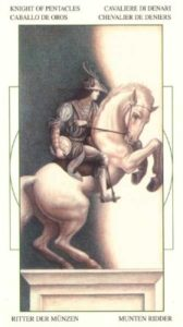 Рыцарь Монет Таро Леонардо Leonardo da Vinci Tarot