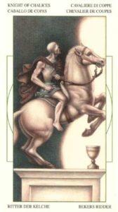 Рыцарь Чаш (Кубков) Таро Леонардо Leonardo da Vinci Tarot