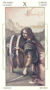 10 Колесо Фортуны Таро Леонардо Leonardo da Vinci Tarot