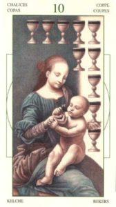 10 Чаш (Кубков) Таро Леонардо Leonardo da Vinci Tarot