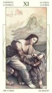 11 Сила Таро Леонардо Leonardo da Vinci Tarot