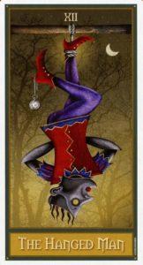 12 Повешенный Таро Девиантной Безумной Луны Deviant Moon Tarot