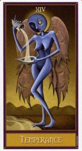 14 Умеренность Таро Девиантной Безумной Луны Deviant Moon Tarot
