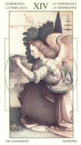 14 Умеренность Таро Леонардо Leonardo da Vinci Tarot
