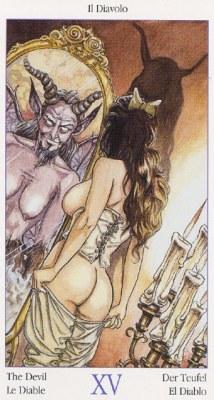 15 Дьявол Таро Казановы Tarots of Casanova