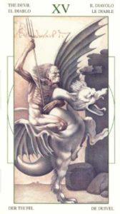 15 Дьявол Таро Леонардо Leonardo da Vinci Tarot