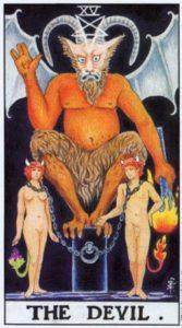 15 Дьявол Универсальное Таро Райдера Уайта
