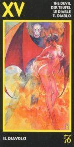 15 Дьявол Эротическое Таро Манара