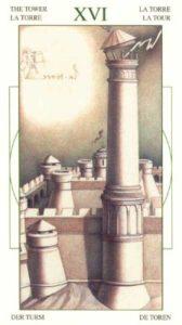 16 Башня Таро Леонардо Leonardo da Vinci Tarot
