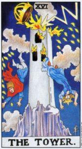 16 Башня Универсальное Таро Райдера Уайта