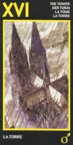 16 Башня Эротическое Таро Манара