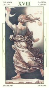 18 Луна Таро Леонардо Leonardo da Vinci Tarot