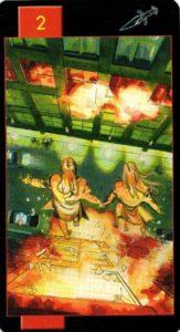 2 Мечей Готическое Таро Вампиров