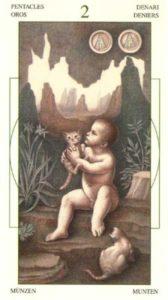 2 Монет Таро Леонардо Leonardo da Vinci Tarot