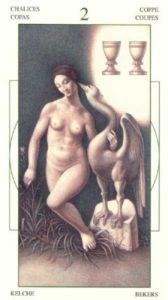 2 Чаш (Кубков) Таро Леонардо Leonardo da Vinci Tarot