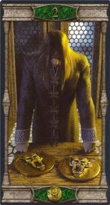 2 Пентаклей Таро Вечная Ночь Вампиров