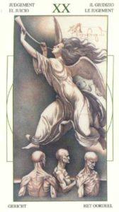 20 Суд Таро Леонардо Leonardo da Vinci Tarot