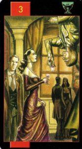 3 Кубков Готическое Таро Вампиров