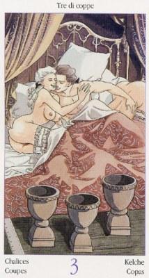 3 Кубков Таро Казановы Tarots of Casanova