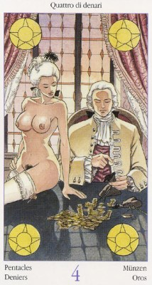 4 Денариев Таро Казановы Tarots of Casanova