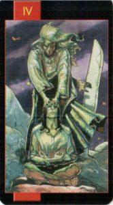 4 Император Готическое Таро Вампиров