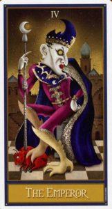 4 Император Таро Девиантной Безумной Луны Deviant Moon Tarot