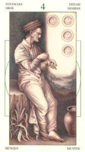4 Монет Таро Леонардо Leonardo da Vinci Tarot