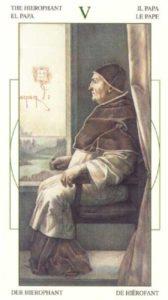 5 Верховный Жрец Таро Леонардо Leonardo da Vinci Tarot