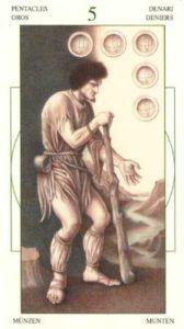 5 Монет Таро Леонардо Leonardo da Vinci Tarot
