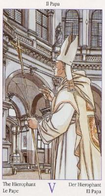 5 Первосвященник Верховный Жрец Таро Казановы Tarots of Casanova