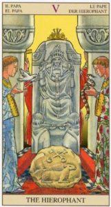 5 Первосвященник Верховный Жрец TAROT of the NEW VISION
