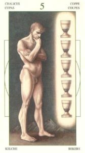 5 Чаш (Кубков) Таро Леонардо Leonardo da Vinci Tarot